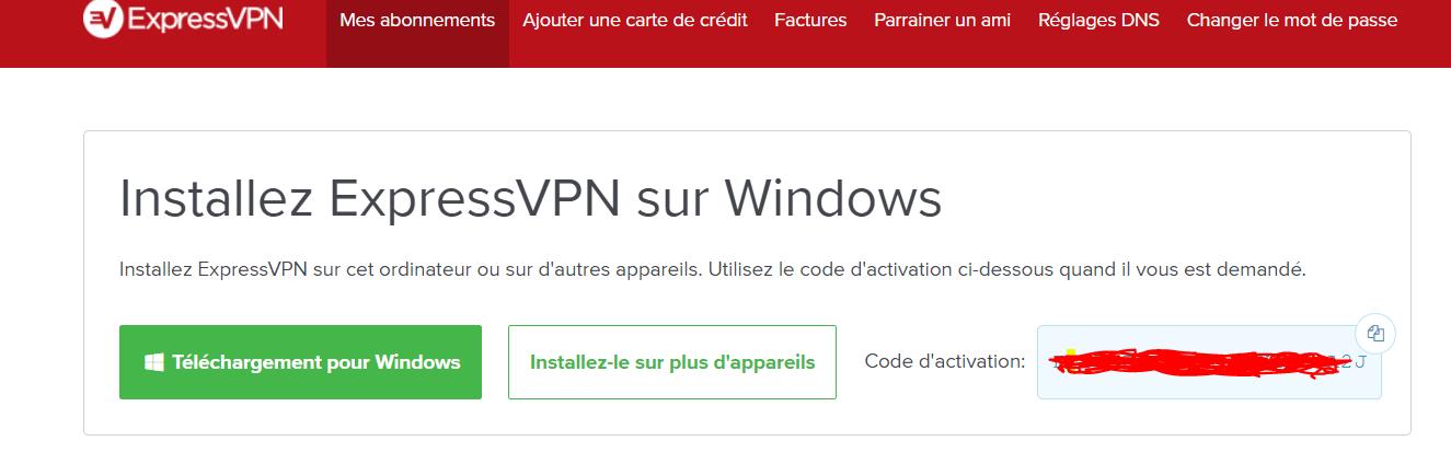 Installation d'ExpressVPN