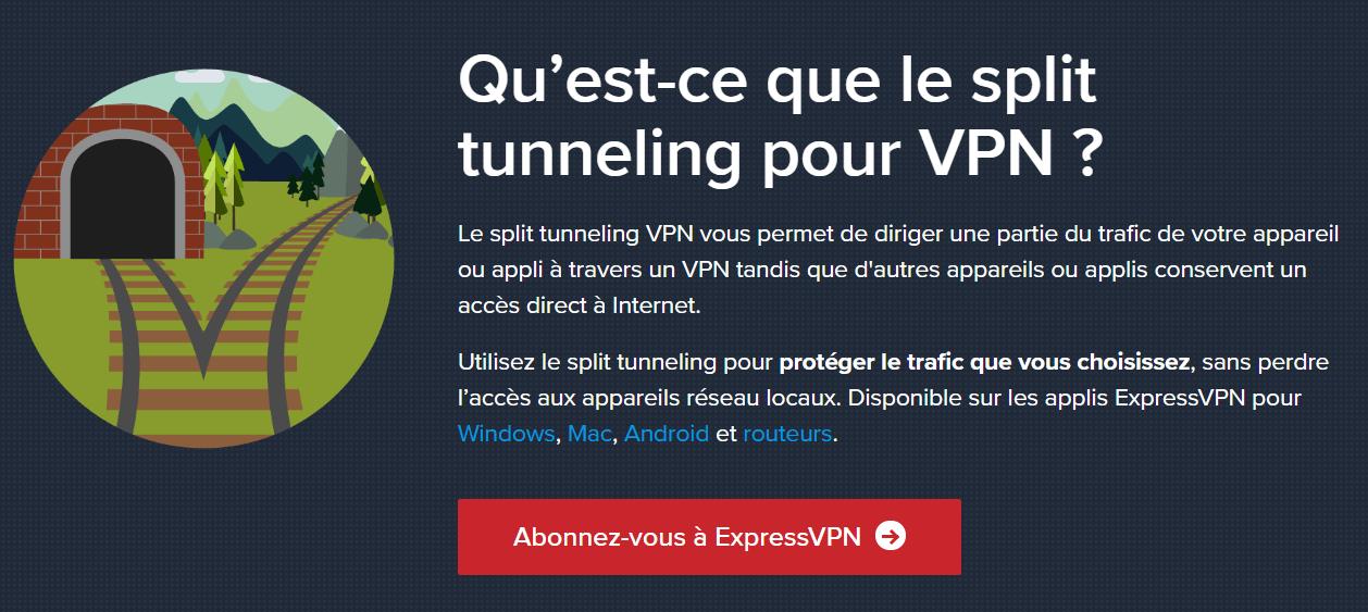 Split-Tunneling ExpressVPN