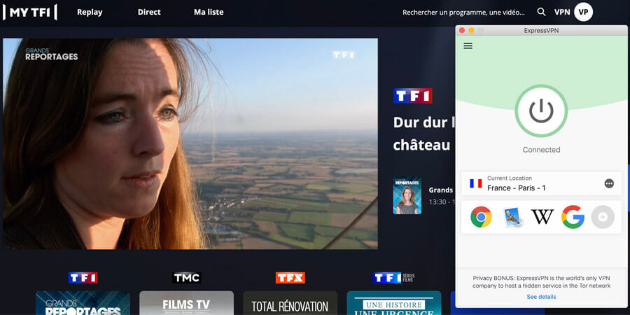TF1 avec ExpressVPN