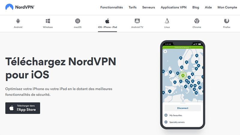 NordVPN iPhone