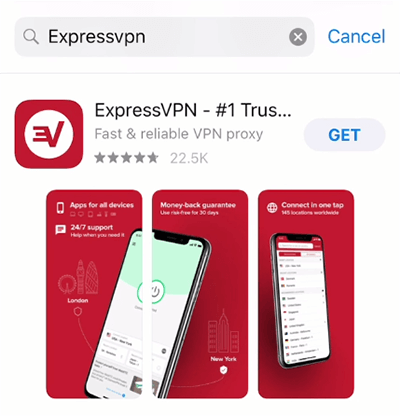 Téléchargement ExpressVPN iOS