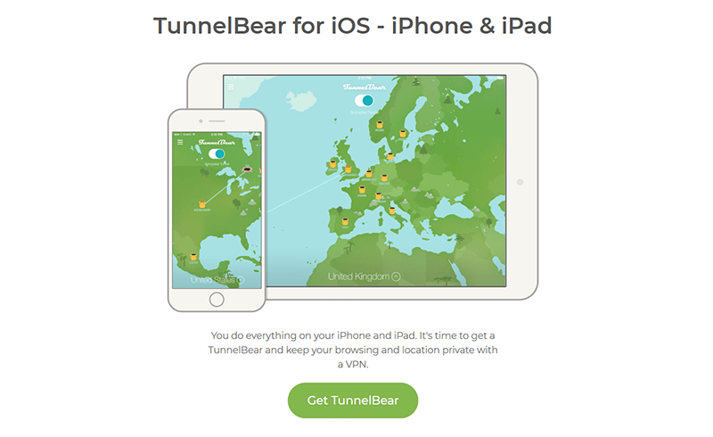 TunnelBear iPhone