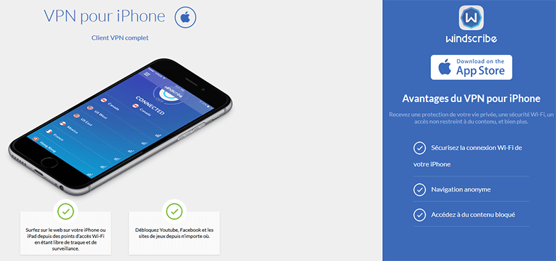 Windscribe iPhone
