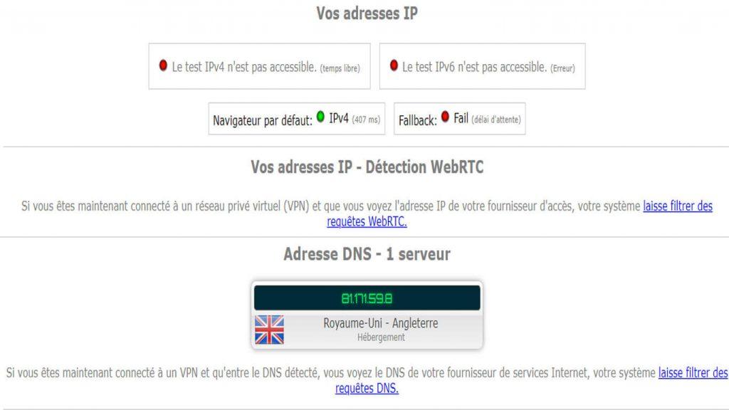 Fuites DNS avis IPVanish