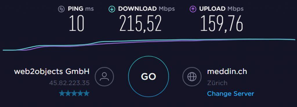 Speedtest Suisse IPVANISH-1024x369