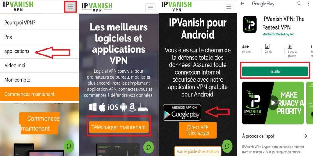 Téléchargement Mobile IPVanish