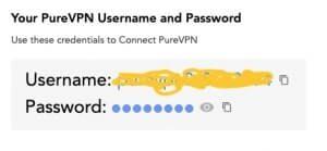 Connexion à PureVPN