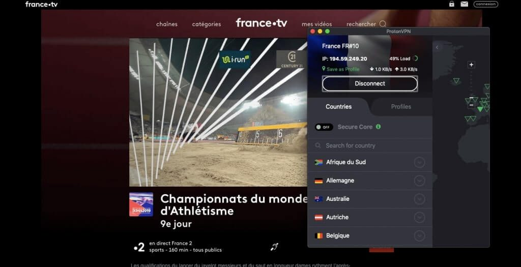 France TV ProtonVPN