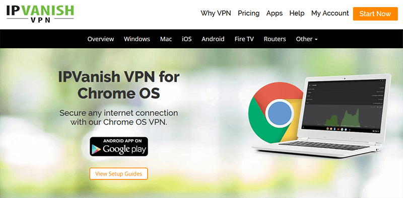 Google Chrome IPVanish