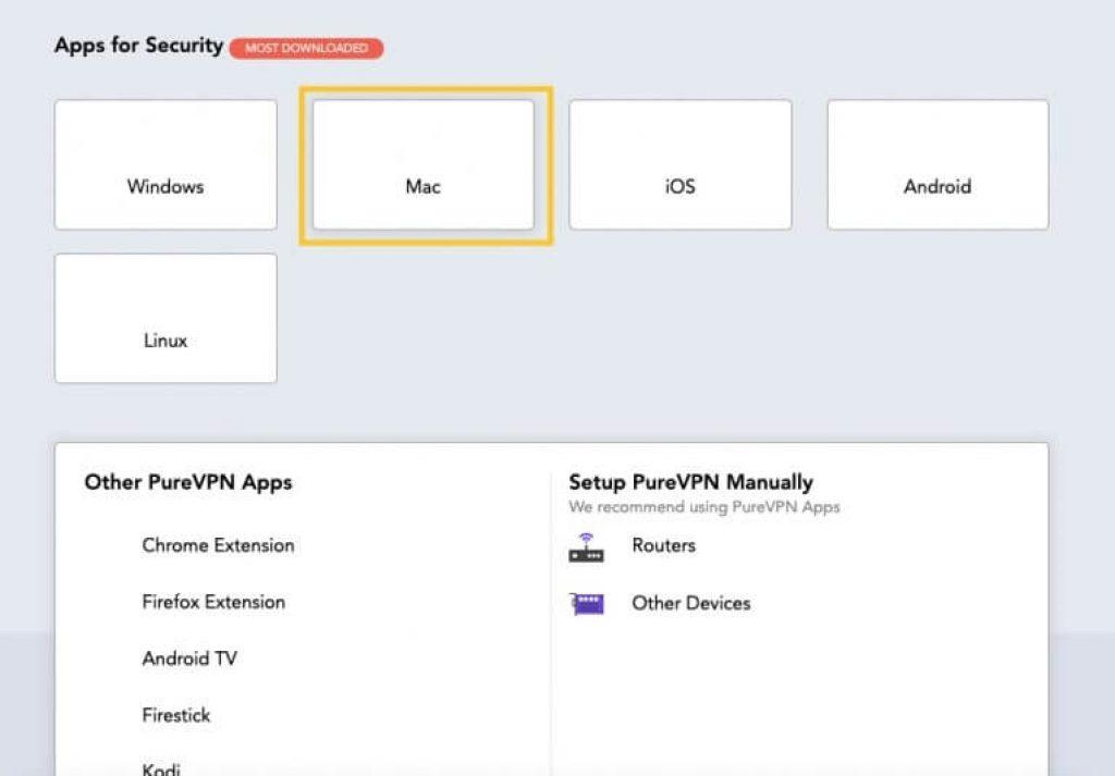 Mac téléchargement VPN pureVPN