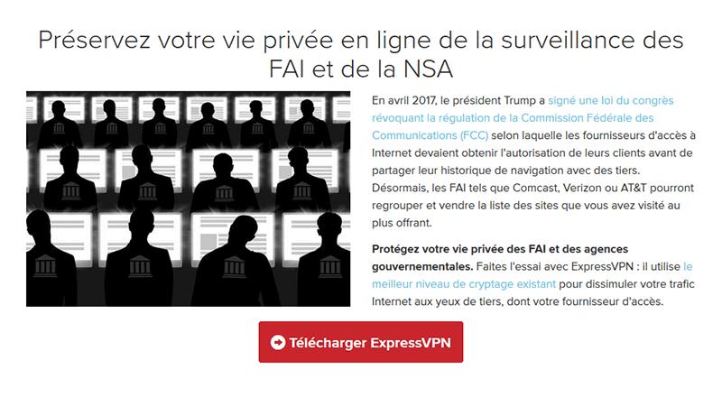Protection contre la NSA VPN USA