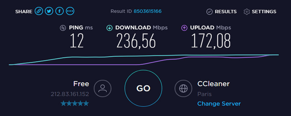 Speedtest France NordVPN
