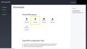 Téléchargement mac protonVPN
