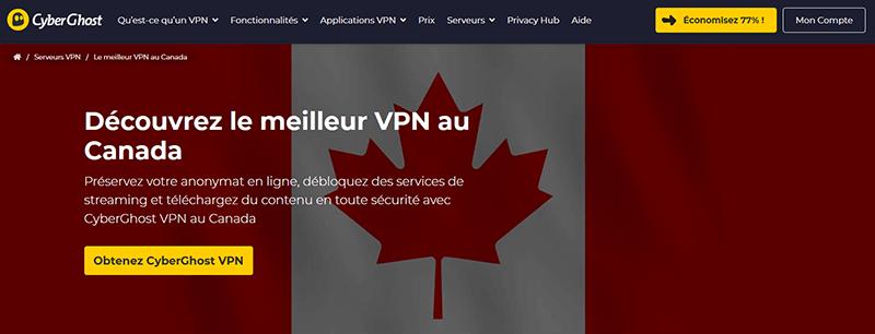 VPN Canada CyberGhost