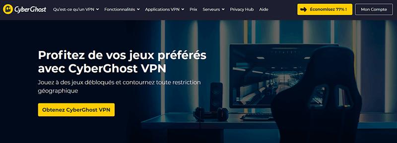 VPN Console de jeu CyberGhost