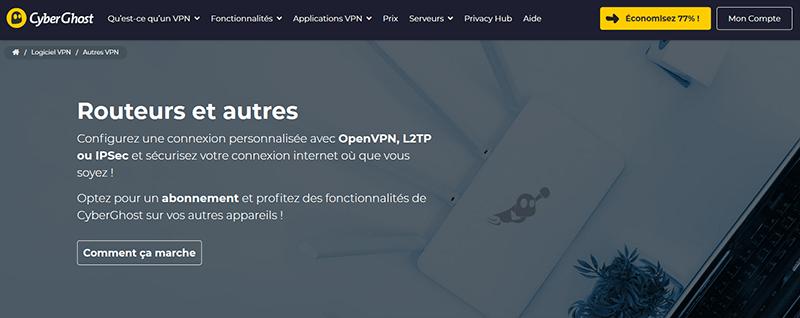 VPN routeur CyberGhost
