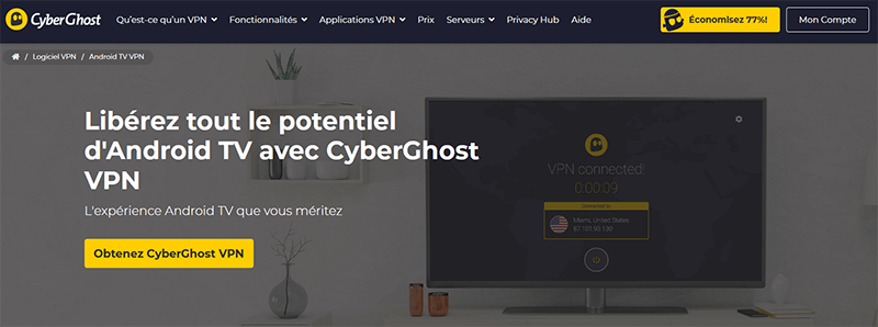 CyberGhost pour Android TV