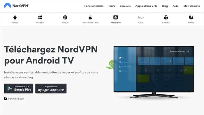 NordVPN Android TV